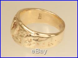 Retired James Avery Textured Raised Descending Dove 14K Gold Ring Size 8