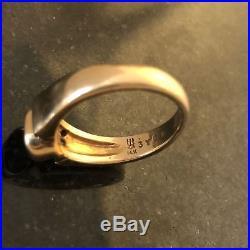 Retired James Avery Women's Diamond Sapphire Ring Sz 5 3/4 14K Yellow Gold. 585