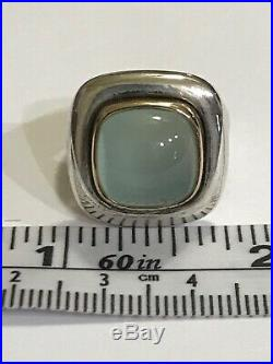 Retired James Avery sterling silver and 14k Gold ring
