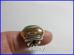 Retired Large Heavy 17 Gram James Avery Sterling & 14k Yg Knot Ring-size 6-nr