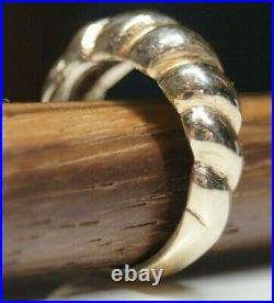 Retired & RARE James Avery 14k Gold FLUTED SWIRL DOME Ring Size 6