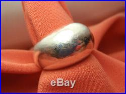 Retired Sterling Silver James Avery Hammered Dome Ring 15.4 Gram Size 9 Lot 2637