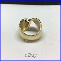 Retired Vintage James Avery 14K Solid Gold Mobius Twist Ring 5.25 9 grams
