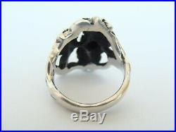 Retired vintage James Avery Sterling Silver Dogwood Ring size 7