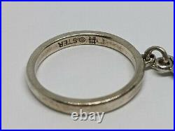 Sterling Silver Sz 5.5 RETIRED Smooth Loop Ring Unicorn Charm FREE SHIPPING