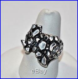 Stunning RETIRED JAMES AVERY Sterling Silver State of TEXAS Nugget Ring Sz- 7.25
