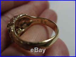 Stunning Retired James Avery 14k Yg Daisy Margarita Blue Sapphire Ring-size 7-nr