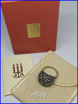 Sz 6.5 RETIRED James Avery Sterling Silver Daisy Flower Dome Ring with Box & Pouch
