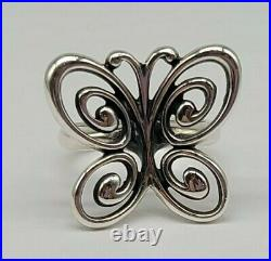 Sz 7.5 RETIRED James Avery Spring Butterfly Ring FREE SHIPPING