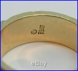 Very Rare Retired James Avery 14K Chi Rho Christian Symbol and Ichthus Fish Ring