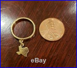 Vintage 14K Gold James Avery TEXAS DANGLE CHARM Ring