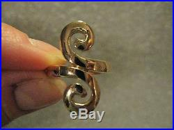 Vintage Retired James Avery S Swirl Ring Solid 14K Yellow Gold Size 5 Signed