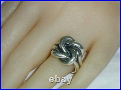 Vintage Retired James Avery Sterling Heavy Original Love Knot Ring- Size 7 1/2