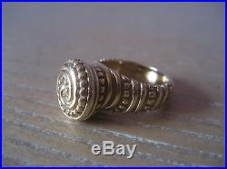 Vintage Retired Unique JAMES AVERY 14K Solid Gold African Beaded Ring Size 5.25