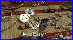 Wearable Retail Lot Sterling Silver 925 bracelets necklaces, rings & James Avery